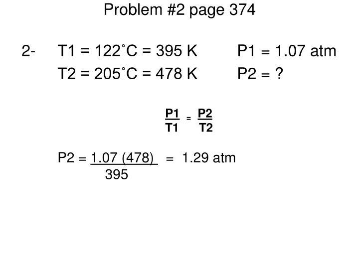 Problem #2 page 374
