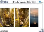 cryosat launch 8 oct 2005
