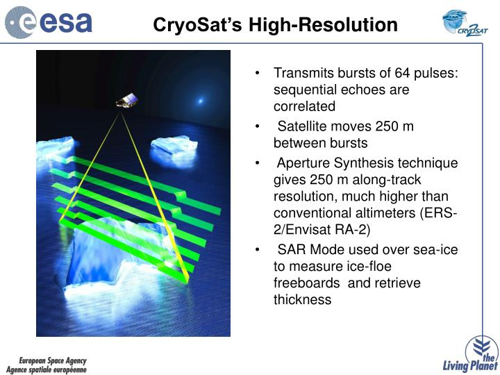 CryoSat's High-Resolution