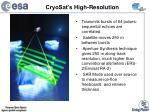 cryosat s high resolution