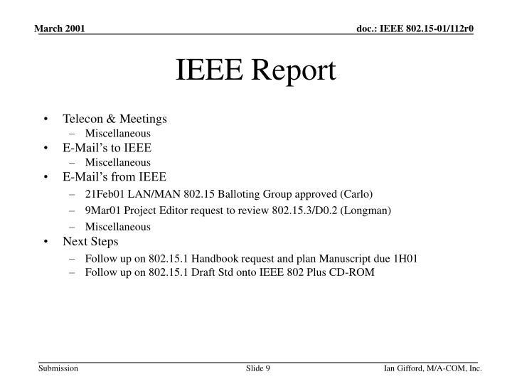 IEEE Report