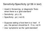 sensitivity specificity p136 in text
