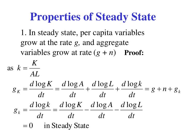 Properties of Steady State