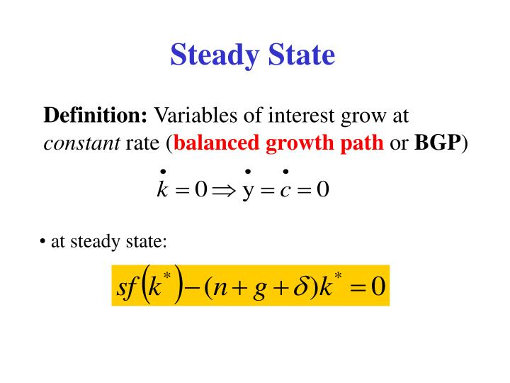 Steady State