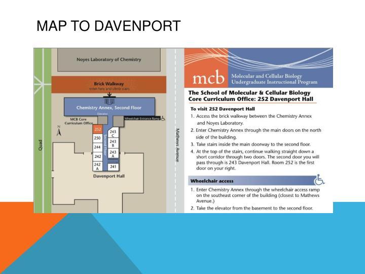 Map to Davenport