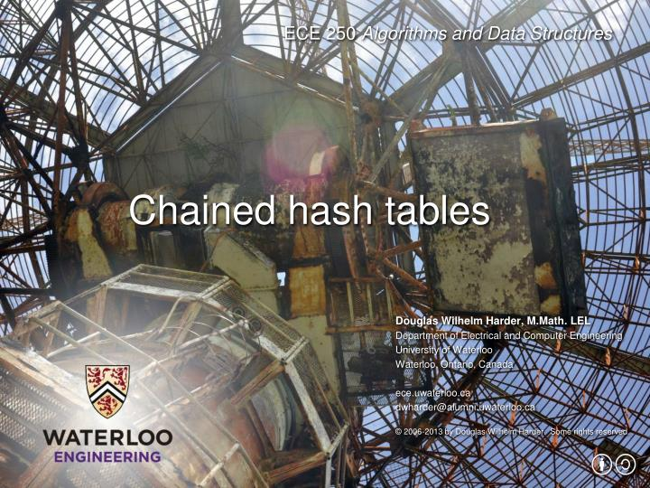 Chained hash tables
