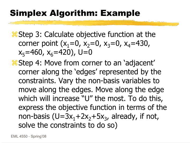 Simplex Algorithm: Example