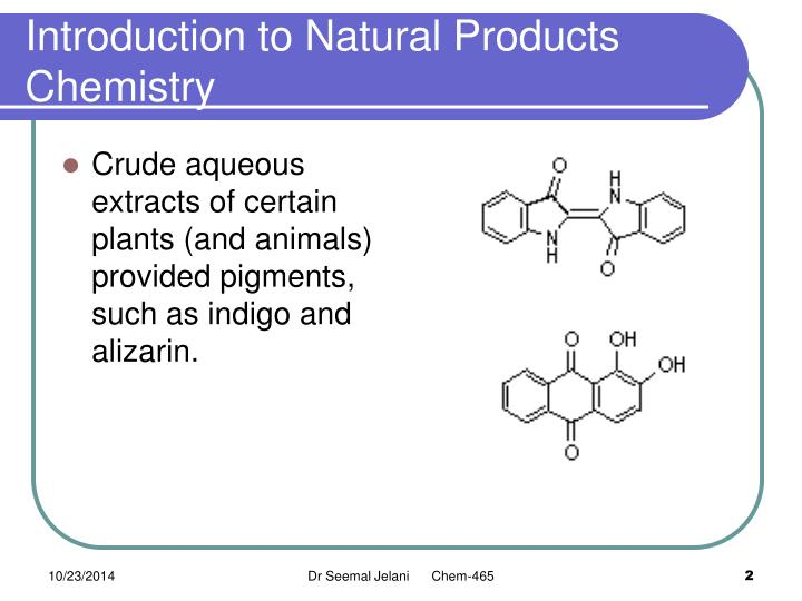 Introduction To Natural Products Chemistry Powerpoint