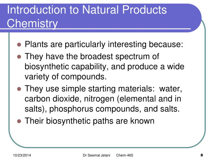 Introduction to natural products chemistry pdf