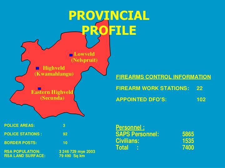 PROVINCIAL PROFILE