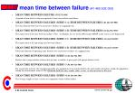 mean time between failure 1 465 932 000
