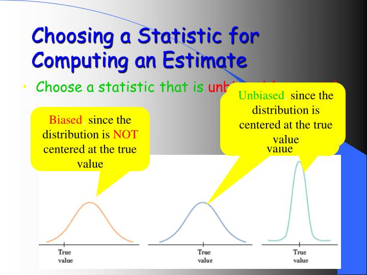 Choosing a Statistic for Computing an Estimate