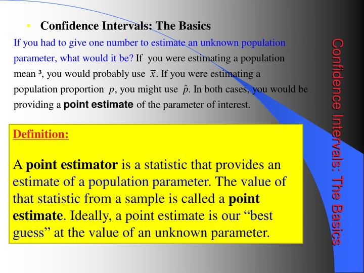 Confidence intervals the basics1