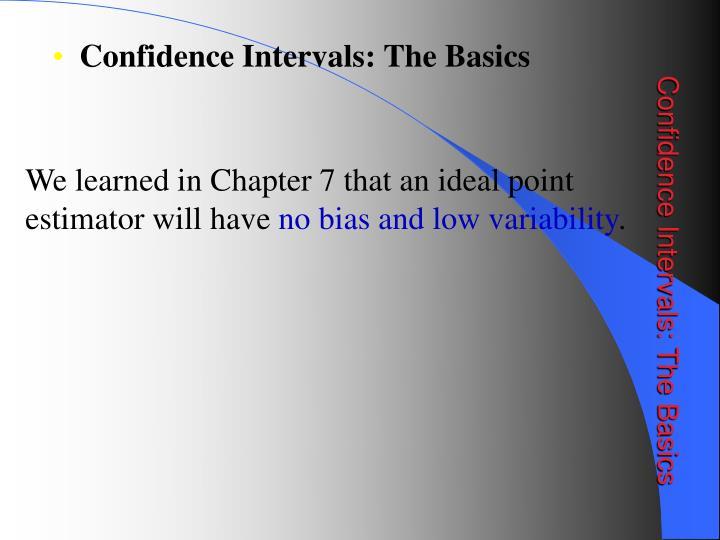 Confidence Intervals: The Basics