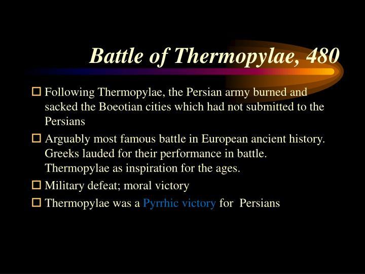 Battle of Thermopylae, 480