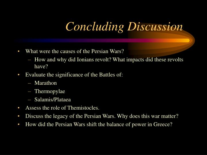 Concluding Discussion