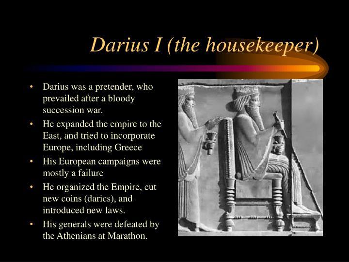 Darius I (the housekeeper)