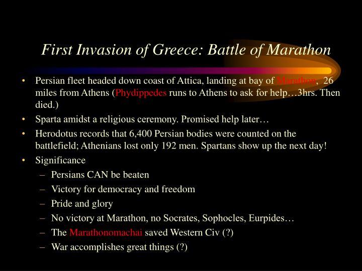 First Invasion of Greece: Battle of Marathon
