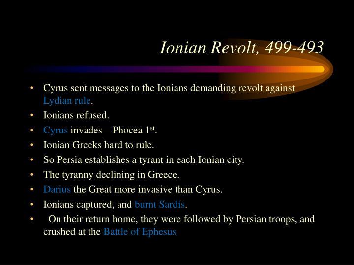 Ionian Revolt, 499-493