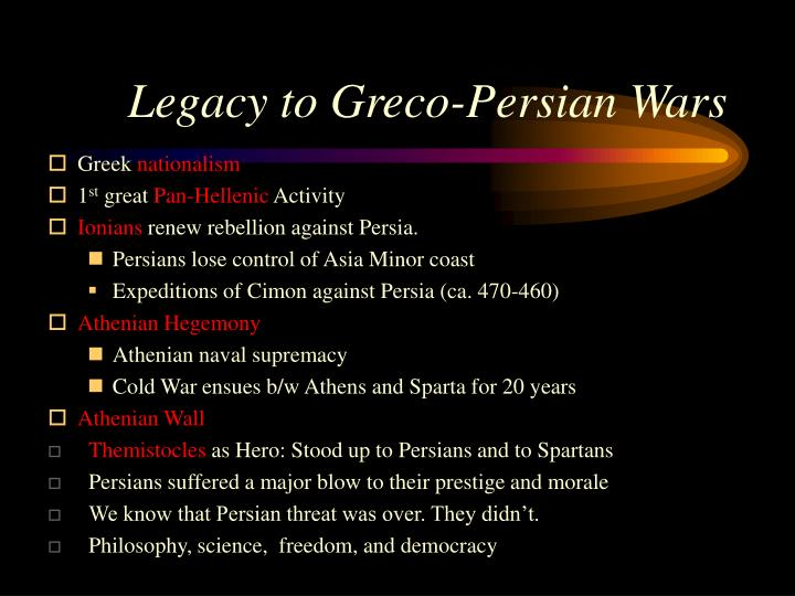 Legacy to Greco-Persian Wars