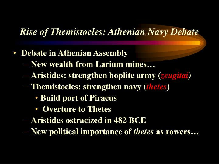 Rise of Themistocles: Athenian Navy Debate