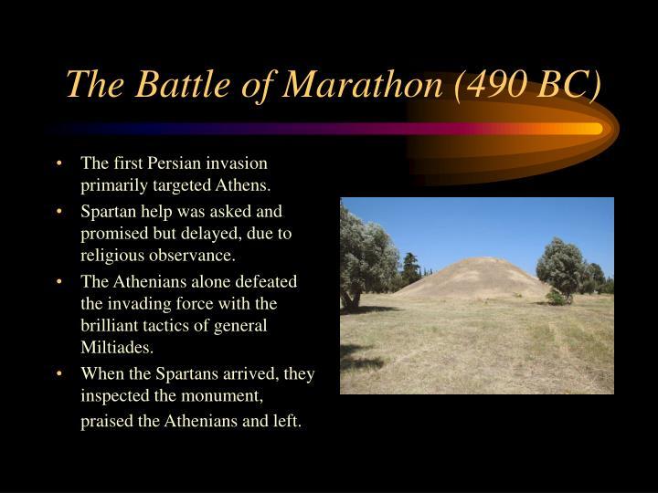 The Battle of Marathon (490 BC)