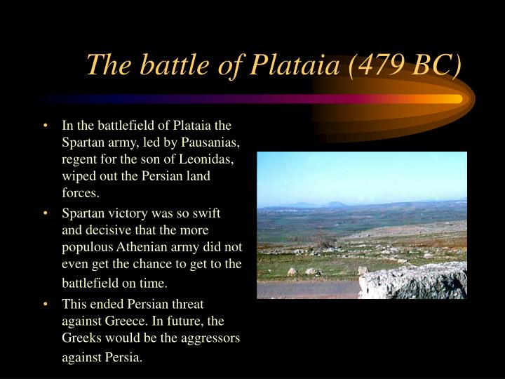 The battle of Plataia (479 BC)