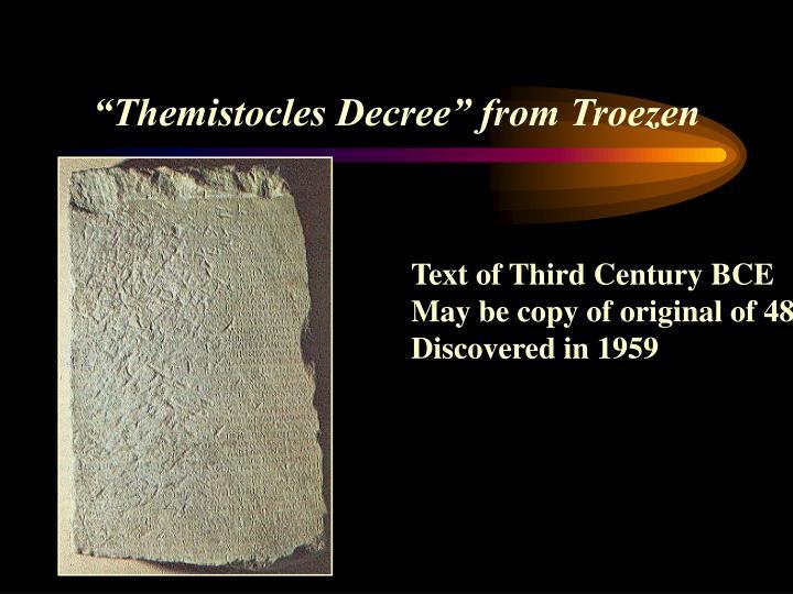 """Themistocles Decree"" from Troezen"