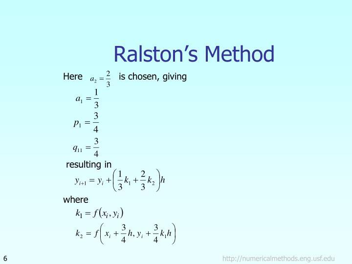 Ralston's Method