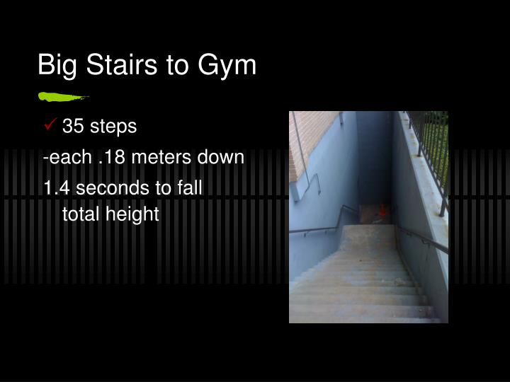 Big Stairs to Gym