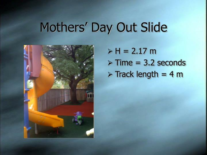Mothers' Day Out Slide