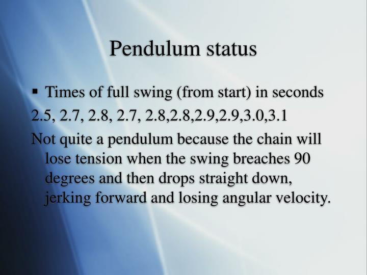 Pendulum status