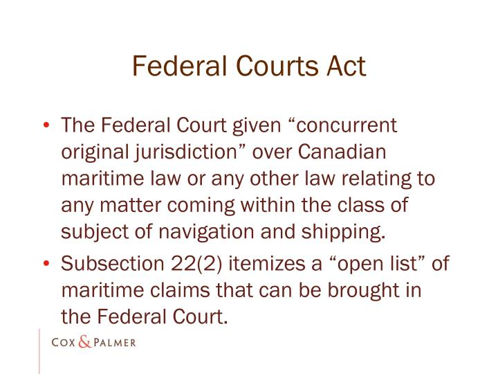 Federal Courts Act