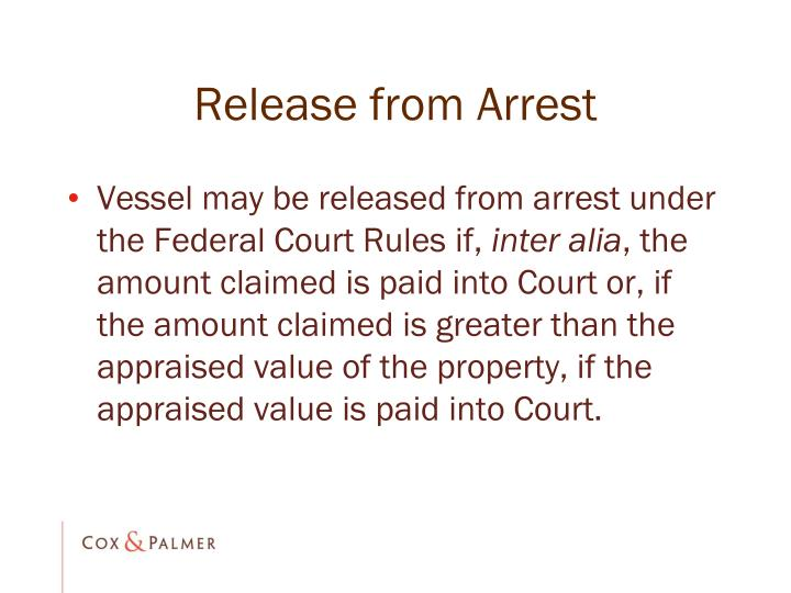 Release from Arrest