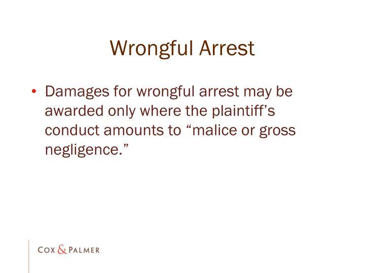 Wrongful Arrest