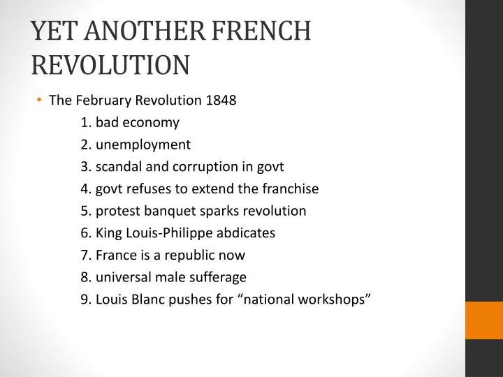 YET ANOTHER FRENCH REVOLUTION