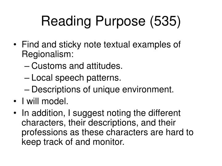 Reading Purpose (535)