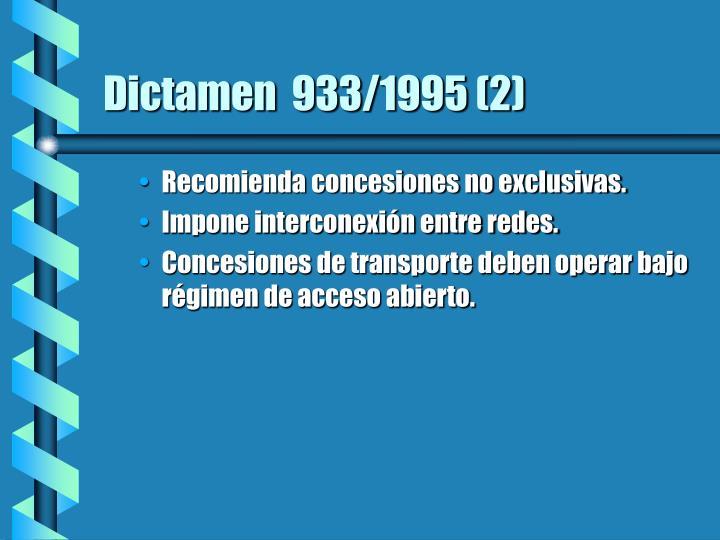 Dictamen  933/1995 (2)