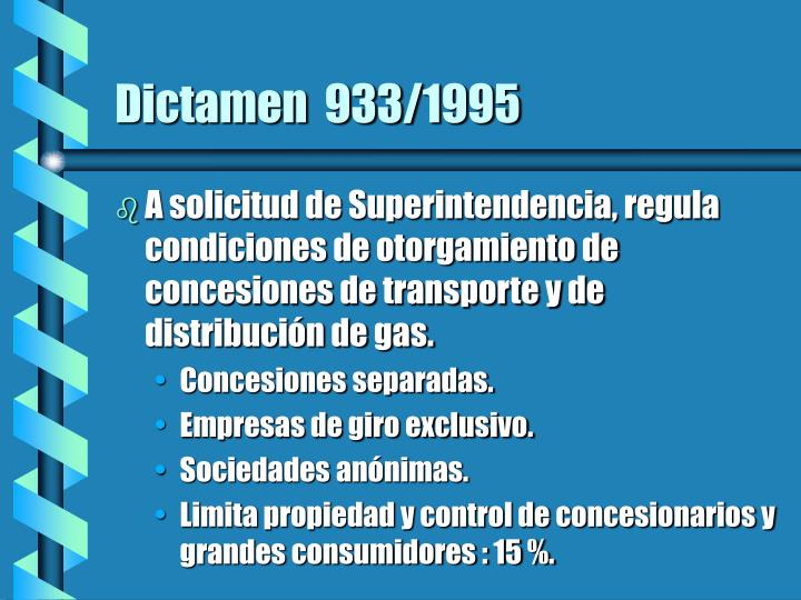 Dictamen  933/1995
