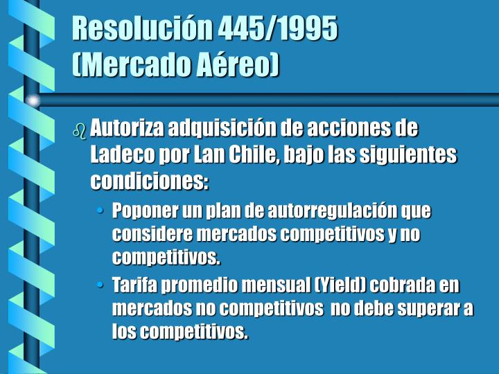 Resolución 445/1995