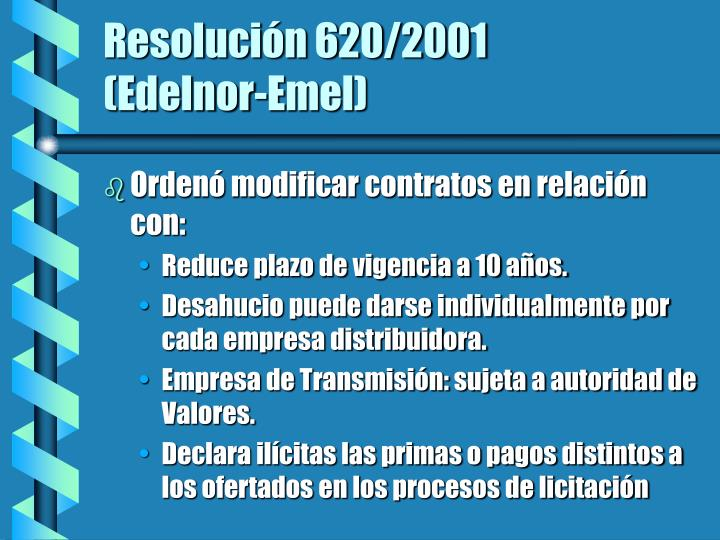 Resolución 620/2001
