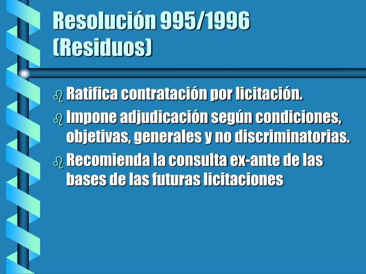 Resolución 995/1996