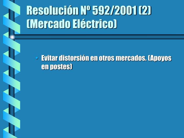 Resolución Nº 592/2001 (2)  (Mercado Eléctrico)