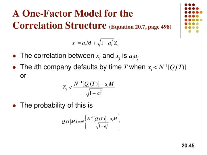 A One-Factor Model for the Correlation Structure
