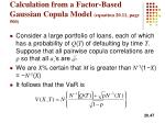 calculation from a factor based gaussian copula model equation 20 11 page 500