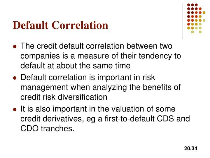 Default Correlation