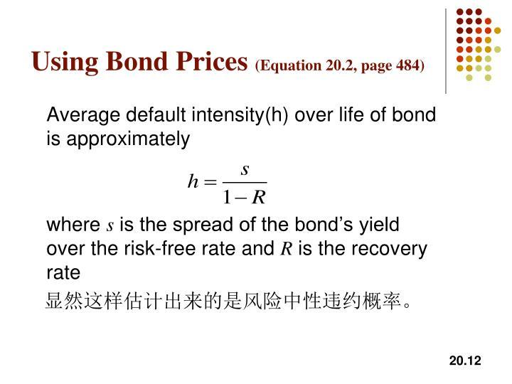 Using Bond Prices