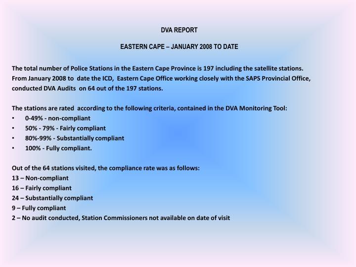 DVA REPORT