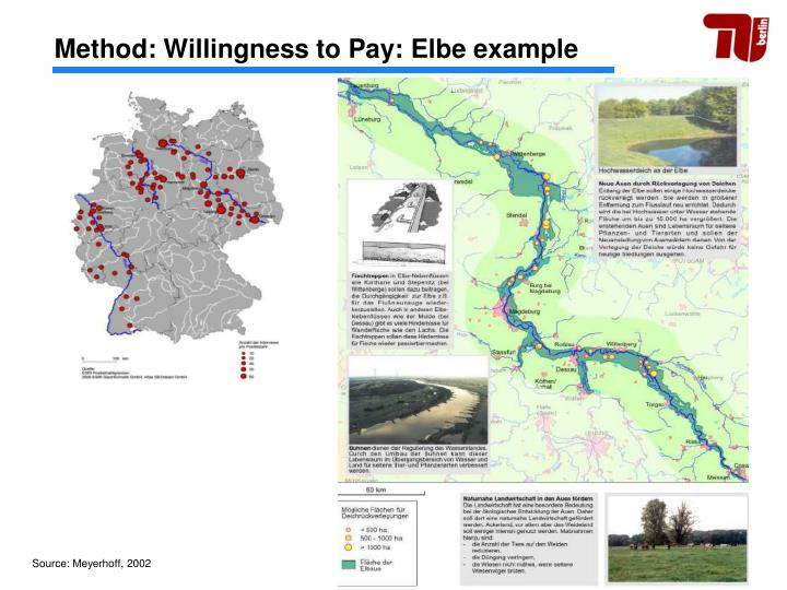 Method: Willingness to Pay: Elbe example