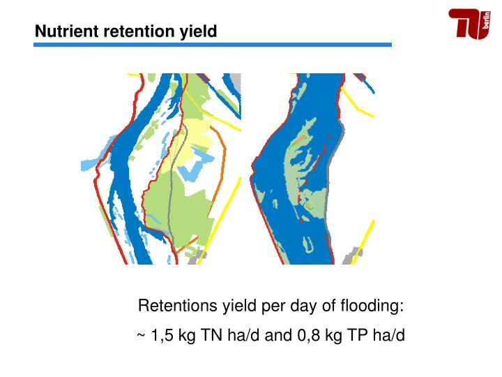 Nutrient retention yield